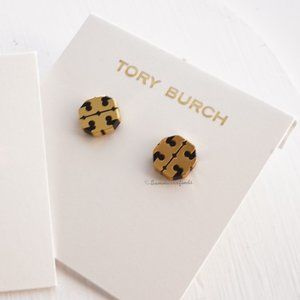 Tory Burch T Stretched Logo Studs Earrings